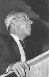 P.Andriušis 1964 m. sakantis šmaikščią kalbą per LRD-ios posėdį.
