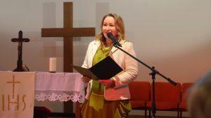 Lietuvos evangeliškosios bažnytinės muzikos sandraugos vadovė Laura Matuzaitė-Kairienė.