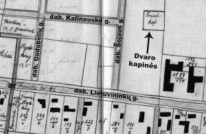 Šilokarčemos dvaro kapinės 1912 - 1913 metų plane.