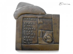 J. Erminaitės-Šimkuvienės medalis, skirtas J. Gutenbergui. 2 dalis