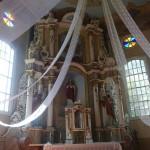 Sedos bažnyčios vidus.