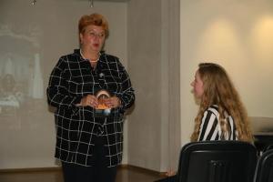 Kaišiadorys. Kalba skulptoriaus vaikaitė Rema Bartuševičiutė Bartkienė.