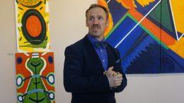 E.Šuldiakovas balandžio mėnesį atidarant parodą Šilutės muziejuje.