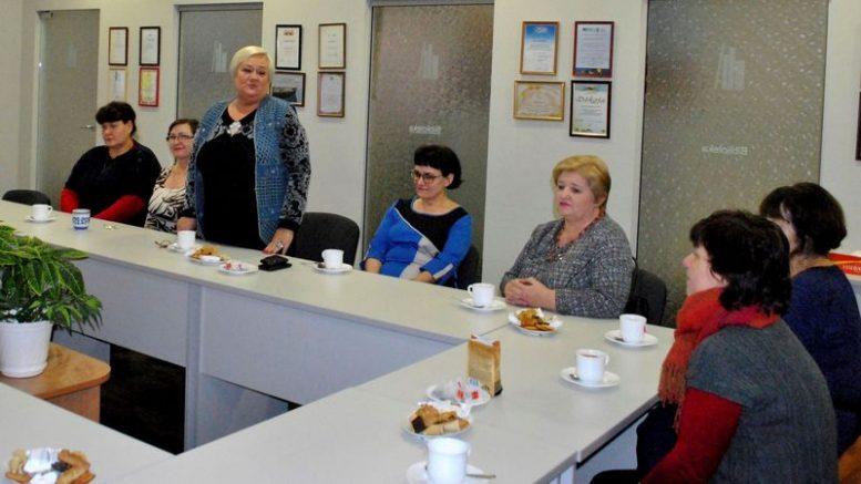 Kalba dabartinė Lietuvai pagražinti draugijos Pagėgių skyriaus pirmininkė Ona Poškienė.