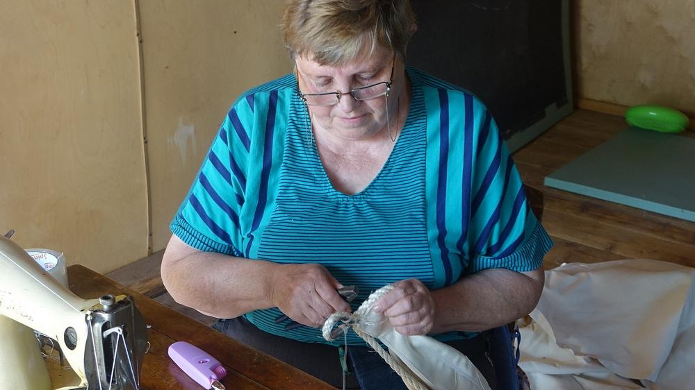 Birutė Kromelienė šiame savo darbe naudoja ir reples.