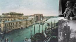 Karaliaučiaus biržos rūmai, pastatyti 1875 metai. Jų statybai tuomet buvo sukalta 2000 ąžuolinių 10-12 metrų ilgio rąstų. Pastatas tebestovi. hellenicaworld.com nuotr.