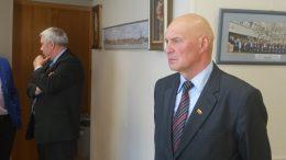 Seimo narys A.S.Nausėda (dešinėje) ir jo padėjėjas Valentinas Dylertas.