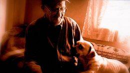 Petras Bakšys su savo augintiniu. Asmeninio archyvo nuotrauka.