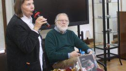 Renginį vedė ir savo įžvalgomis apie J. Budraitį pasidalino mokytoja, literatė Irena Arlauskienė.