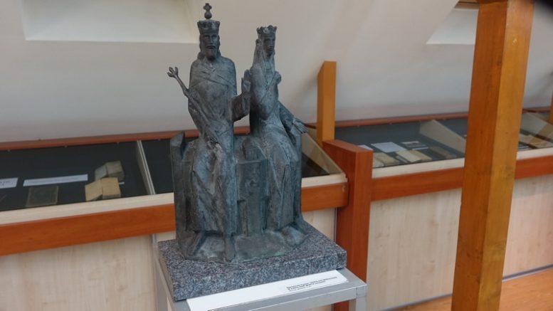 """Stanislovas Kuzma """"Karalius Mindaugas ir karalienė Morta""""."""