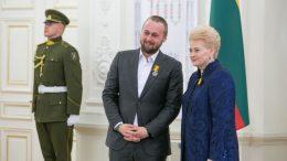 LR Prezidentė D.Grybauskaitė ir  D.Pancerovas. Juliaus Kalinsko/15min nuotrauka.