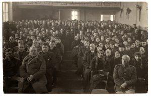 Nepriklausomybės 20-mečio minėjimas Rusnėje. Nuotrauka iš asmeninio V.Koncaičio albumo.
