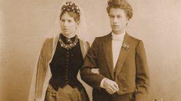 1891 m. Vydūno ir Klaros vestuvinė nuotrauka.