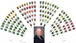 Naujausias Seimo narių vietų planas parlamente.