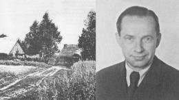 A.Puskepulaitis apie 1960 m. Jo tėviškė Kloniuose.