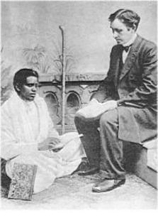 Misijonierius Kristupas Lokys su indų mokytoju Stefanu Khariya Samada iš Bengalijos 1902 m. D.Kauno rinkinys.