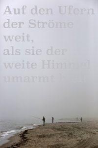 """Foto von Matthias Schumann für das Kunstprojekt """"Johannes Bobrowski - Dichter der Sarmatischen Landschaft"""" """"Auf den Ufern der Ströme weit, als sie der weite Himmel umarmt hielt"""" (c) Foto: Matthias Schumann"""