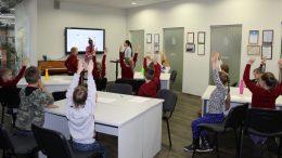 Virselis -Mokiniai aktyviai dalyvauja interaktyviame žaidime