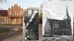 Dieter Teubler iš Natkiškių Klaipėdos krašte 1941 m. Iki Antrojo pasaulinio karo  Natkiškiuose stovėjusi bažnyčia. Dabartinis šios gyvenvietės vaizdas. Nuotraukos iš Wikipedia.