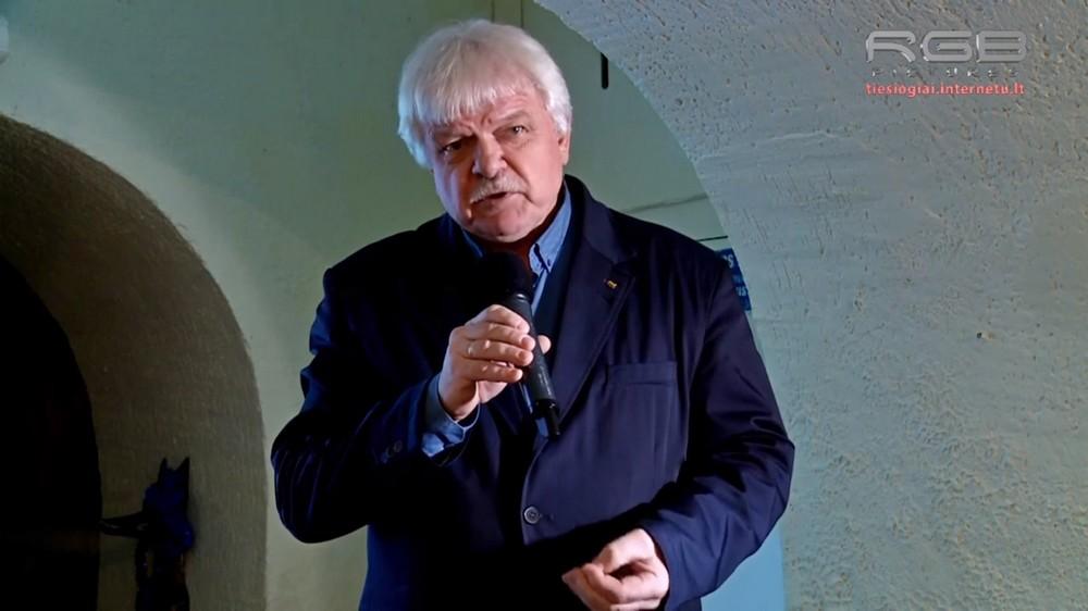 """Istorikas, humanitarinių mokslų daktaras, paskaitų """"Pažintis su senąja Klaipėda"""" iniciatorius Vacys Vaivada."""