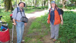Marija ir Martynas Purvinai 2013 metų birželio 21 dieną Šilutės senosiose miesto kapinėse.