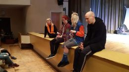 """""""Įsilaužėlio"""" kūrybine grupė. Iš dešinės – Mindaugas  Ancevičius, Kamilė Rutkaitė,  Aurimas Bačinskas ir Agnė Sunklodaitė."""