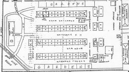 """Karo belaisvių stovyklos """"Stalag Luft VI Heydekrug"""", amerikiečių bloko planas. Nubraižytas čia kalėjusio amerikiečių karininko. ŠHŠM MAFF skyrius 77, inv. Nr. 151"""