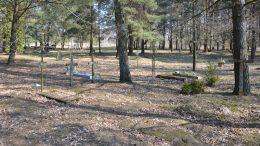 Macikuose mirusių ir nužudytų lietuvių artimieji Atgimimo laikotarpiu ant simbolinių kapų statė paminklus, kryžius. 2019 m. Fotografavo Ignas Giniotis.