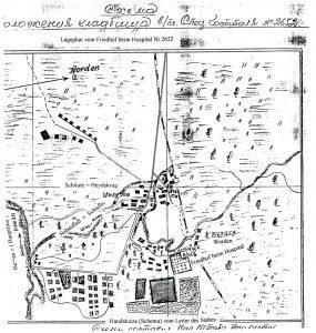 Macikų lagerio kapinių planas, 1949 m. Šilutės H. Šojaus muziejus. Macikų lagerio kaliniai N-Ž, byla Nr. 7.
